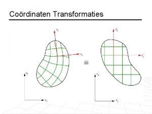 Cordinaten Transformaties Matrices Een matrix is een rechthoekige