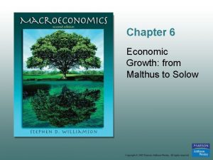 Chapter 6 Economic Growth from Malthus to Solow