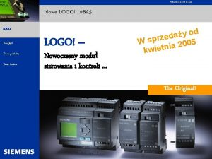 Automation and Drives Nowe LOGO 0 BA 5