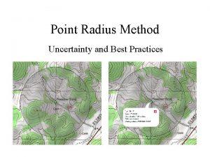 Point Radius Method Uncertainty and Best Practices Best
