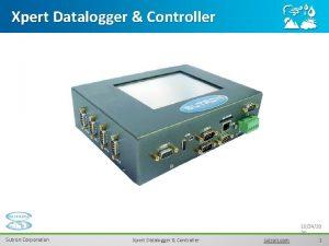 Xpert Datalogger Controller Sutron Corporation Xpert Datalogger Controller