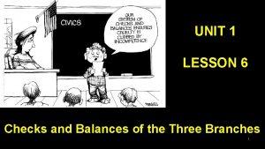 UNIT 1 LESSON 6 Checks and Balances of