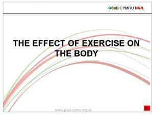 GCa D CYMRU NGf L THE EFFECT OF