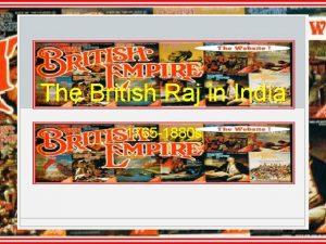 The British Raj in India 1765 1880 s