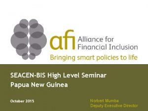 SEACENBIS High Level Seminar Papua New Guinea October