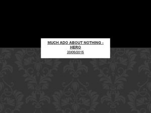 MUCH ADO ABOUT NOTHING HERO 20052015 CLAUDIO CAN