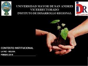 UNIVERSIDAD MAYOR DE SAN ANDRES VICERRECTORADO INSTITUTO DE