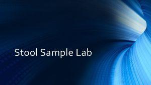 Stool Sample Lab 11715 Stool Sample Lab Key
