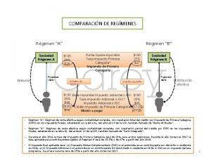 COMPARACIN DE REGMENES Rgimen A Sociedad Rgimen A
