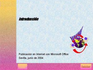 Introduccin Publicacin en Internet con Microsoft Office Sevilla