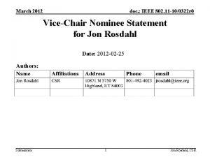 March 2012 doc IEEE 802 11 100322 r