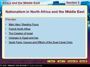 Africa and the Middle East Section 3 Nationalism