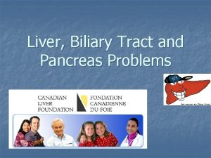 Liver Biliary Tract and Pancreas Problems Liver Todays