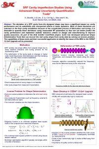 SRF Cavity Imperfection Studies Using Advanced Shape Uncertainty