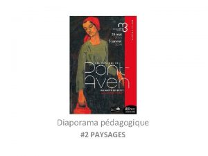 Diaporama pdagogique 2 PAYSAGES Cuno Amiet 1868 1961