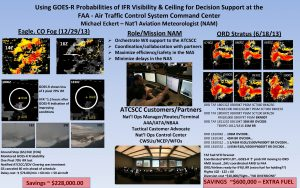 Using GOESR Probabilities of IFR Visibility Ceiling for