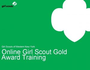 Girl Scouts of Western New York Online Girl