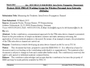 March 2015 doc IEEE 802 15 15 0166