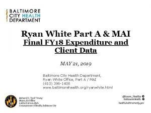 Ryan White Part A MAI Final FY 18