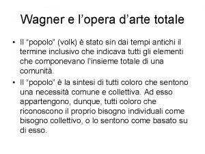 Wagner e lopera darte totale Il popolo volk