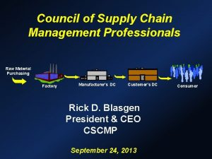 Council of Supply Chain Management Professionals Raw Material