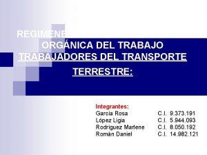 REGIMENES ESPECIALES EN LA LEY ORGNICA DEL TRABAJO
