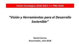 Visin Estratgica 2018 2023 PND 2030 Visin y