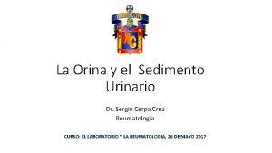 La Orina y el Sedimento Urinario Dr Sergio