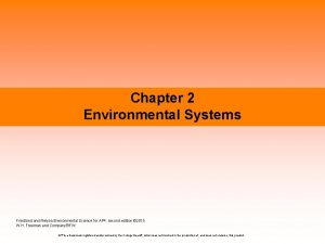 Chapter 2 Environmental Systems Friedland Relyea Environmental Science