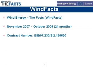 Wind Facts Wind Energy The Facts Wind Facts