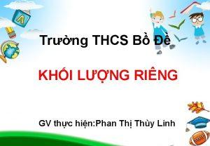 Trng THCS B KHI LNG RING GV thc
