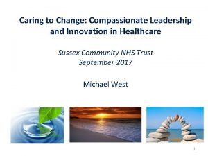 Caring to Change Compassionate Leadership and Innovation in