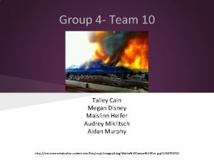 Group 4 Team 10 Talley Cain Megan Disney