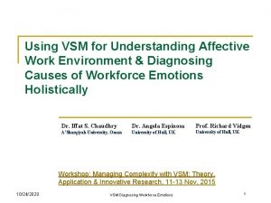 Using VSM for Understanding Affective Work Environment Diagnosing