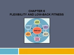 CHAPTER 6 FLEXIBILITY AND LOWBACK FITNESS COMING UP