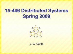 L12 CDNs 1 ACID vs BASE ACID Strong