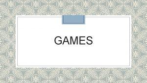 GAMES RISIKO DALAM KEWIRAUSAHAAN Definisi Risiko Ketidakpastian uncertainty