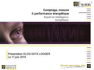 Comptage mesure performance nergtique Expert en intelligence nergtique