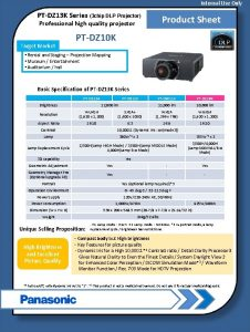 Internal Use Only PTDZ 13 K Series 3