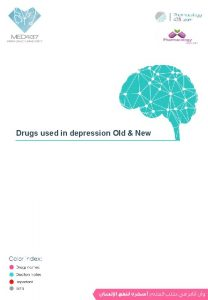 Drugs used in depression Old New Depression Definition