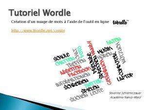 Tutoriel Wordle Cration dun nuage de mots laide