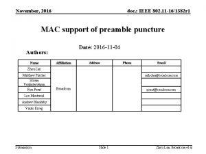 November 2016 doc IEEE 802 11 161382 r