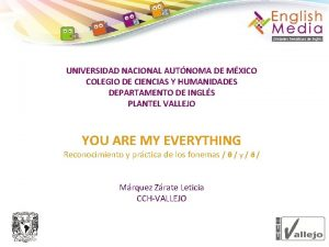 UNIVERSIDAD NACIONAL AUTNOMA DE MXICO COLEGIO DE CIENCIAS