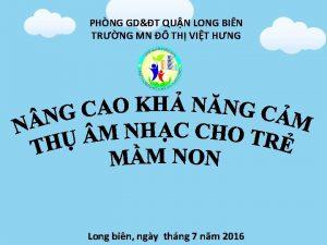 PHNG GDT QUN LONG BIN TRNG MN TH