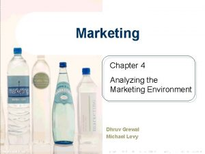 Marketing Chapter 4 Analyzing the Marketing Environment Dhruv