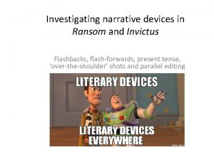 Investigating narrative devices in Ransom and Invictus Flashbacks