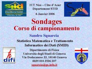 IUT Nice Cte dAzur Dpartement STID 6 Janvier
