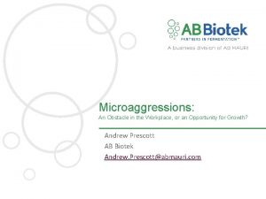 Microaggressions An Obstacle in the Workplace or an