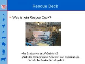 Rescue Deck Was ist ein Rescue Deck der