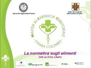 Ordine dei Farmacisti della Provincia di Torino Universit
